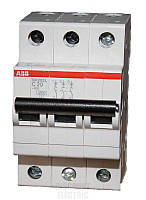 Автоматический выключатель  20A 6кА 3-х полюсный (тип C) (SH203-C20 ABB)