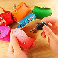 Новинка! Модная ключница, кошелек для ключей, для мужчин и женщин, из искусственной кожи, цвет — зелёный