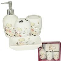 Набор аксессуаров для ванной комнаты (керамика) Роза SNT 888-06-001