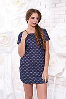 Летнее короткое темно-синее платье А 40 Arizzo 44-54 размеры