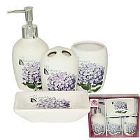 Набор аксессуаров для ванной комнаты (керамика) Сирень SNT 888-06-003