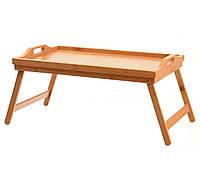 Столик для завтрака, бамбук, 50 х 30 х 24.5 см