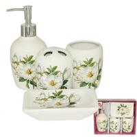Набор аксессуаров для ванной комнаты (керамика) Магнолия SNT 888-06-004
