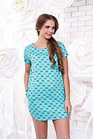 Летнее короткое платье А 40 мята Arizzo 44-54 размеры