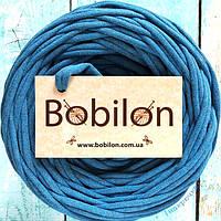 Ленточная пряжа Бобилон, цвет синий меланж