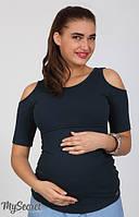 Футболка для беременных и кормления Liama темно-синий-С