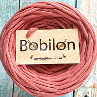 Ленточная пряжа Bobilon, цвет розовый меланж