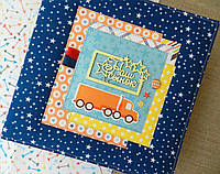 Детский фотоальбом ручной работы (Размер 21х21, 6 разворотов, кармашки и конвертики)