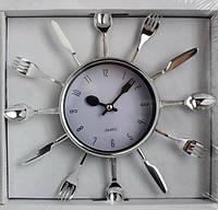 """Часы настенные для кухни """"Ложки-вилки-ножи"""" (25х25 см) [Пластик]"""