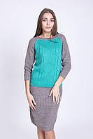 Юбочный вязаный костюм 4 цвета (три размера)