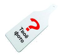 Доска стеклянная разделочная с ручкой с вашим фото или логотипом