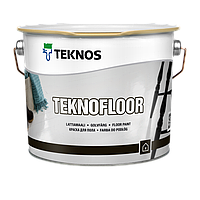Глянцевая уретан-алкидная краска для пола Teknos Teknofloor 9 л