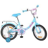 """Детский двухколесный велосипед Profi Princess 16"""" G1612 (Голубой)"""