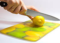 Доска стеклянная разделочная 250 на 200 мм с вашим фото или логотипом