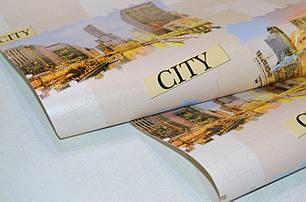 Обои на стену, виниловые, обои город, светлые, B49.4 Пазлы 5545-02, супер мойка, 0,53*10м, фото 2