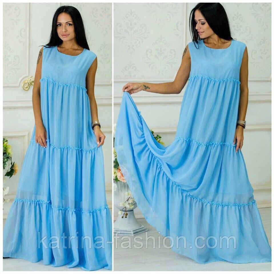 7831c006e4d Женское модное платье-сарафан в пол из шифона (8 цветов) - KATRINA FASHION