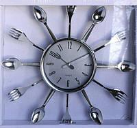 """Часы настенные для кухни """"Ложки-вилки"""" (33х33 см) [Пластик]"""