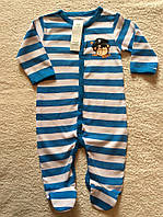 Ползунки  для мальчика с длинным рукавом
