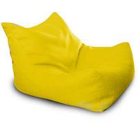 Желтое  бескаркасное кресло-лежак из микро-рогожки, фото 1