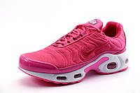 Кроссовки Найк Air Max Tn plus розовые, текстиль, женские/подросток,  р. 36 38 39 40