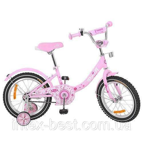 """Двухколесный велосипед Profi Princess 18"""" G1811 (Розовый)"""