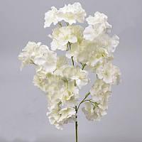 Гортензия кустовая белая 60 см Цветы искусственные