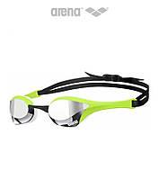 Зеркальные очки для плавания премиум класса Arena Cobra Ultra Mirror (Green Silver)