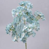 Гортензия кустовая бело голубая 60 см Цветы искусственные