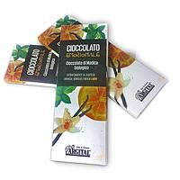 Органический экстра чёрный шоколад со вкусом апельсина, ванили и мяты, 60г