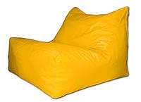 Желтое бескаркасное кресло-лежак из ткани Оксфорд