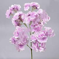 Гортензия кустовая бело фиолетовая 60 см Цветы искусственные