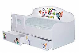 Кровать-диванчик с рисунком  Фиксики
