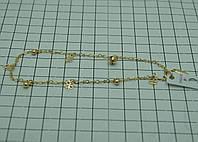 67 Женский недорогой браслет Xuping с подвесками. Позолоченная бижутерия.