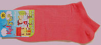 Короткие носки детские коралловые