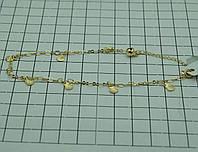 68 Женские браслеты Xuping с подвесками. Позолоченные украшения.