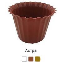 Вазон для цветов пластмассовый Астра 15 см терракотовый