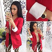 Стильный женский пиджак на подкладке,цвет красный