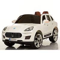 Детский электромобиль Джип Porsche M 3288 EBLR-1 белый, кожаное сиденье и мягкие колеса