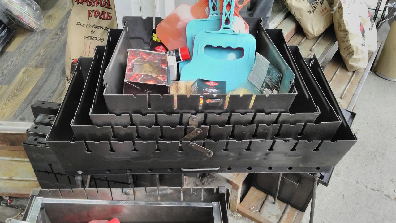 Мангал чемодан на 8 шампуров.