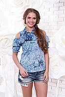Женская блуза с принтом Мираж 4 Arizzo 44-50 размеры