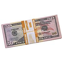 "Сувенирные деньги ""50$ доллар сувенирный"" пачка 80купюр"
