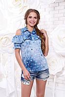 Женская стильная блуза с принтом Мираж 6 звезды Arizzo 44-50 размеры