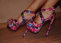"""Босоножки женские на каблуке мод.""""Шпилька-розовая"""""""