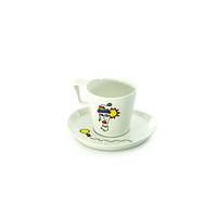 Чашка для завтрака Berghoff Eclipse с блюдцем, 0,40 л (2 шт.) 3705008