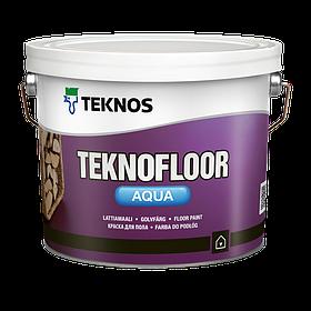 Полуглянцевая водоразбавляемая краска для пола Teknos Teknofloor Aqua 9 л