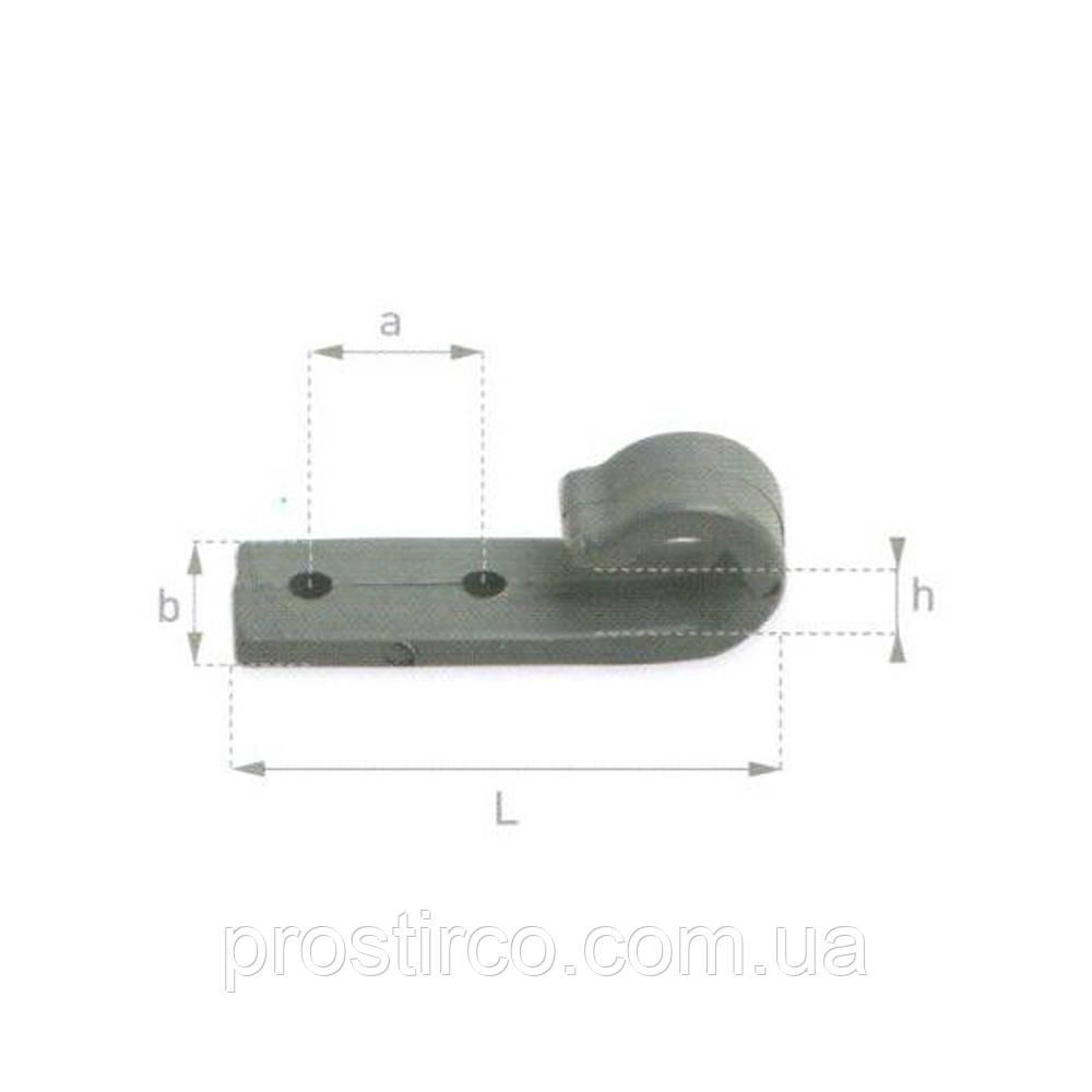 Крючок тентовый плоский, серый 20.20.00 (пластмассовый)