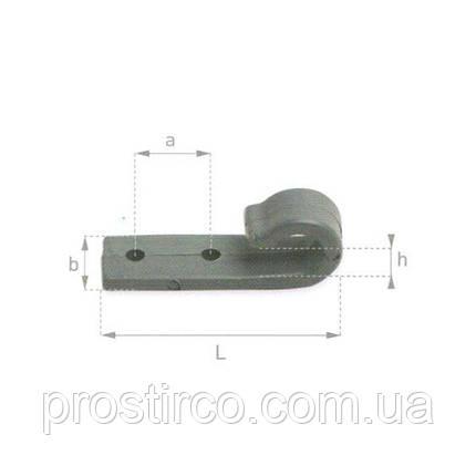 Крючок тентовый плоский, серый 20.20.00 (пластмассовый), фото 2