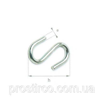 Крючок S-образный 24.40 (оцинкованный), фото 2