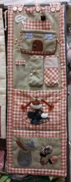 Органайзер для мелочей в клетку, Куклы, 3 секции