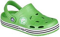 Дитячі клоги Coqui Froggy Лайм 0035-25